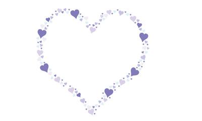 Rahmen in Herzform aus viele Herzen