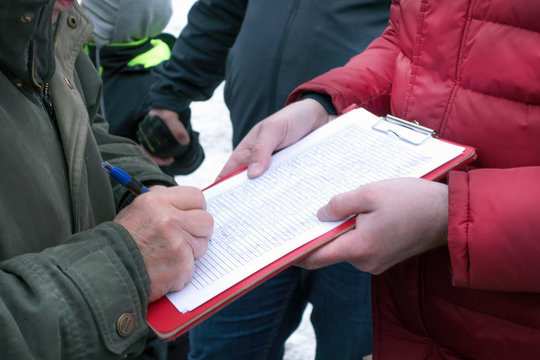 Picket and collect signatures