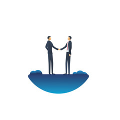 Business deal vector concept with businessman handshake. Symbol of negotiation, agreement, success and trust.