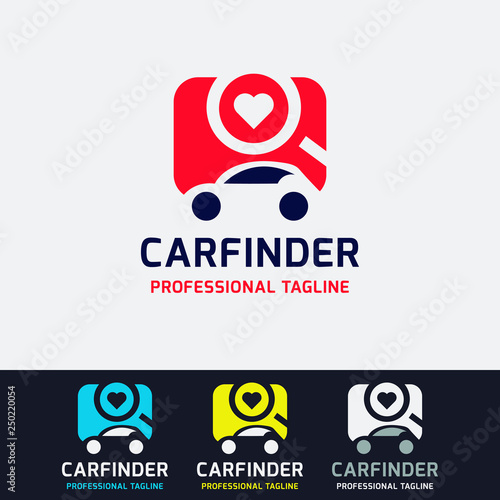 Car Finder Logo Vector File Stock Image And Royalty Free Vector