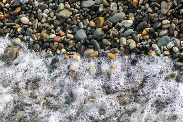 Stone seashore as abstract background