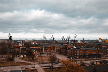 Panorama of the Gdańsk Shipyard