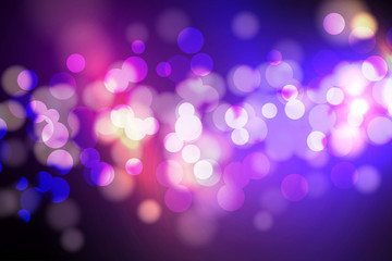 Abstract Circle blurred, Bokeh lights and glitter background Vector