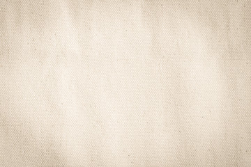 Canvas texture background of cotton burlap natural fabric cloth in old aged beige brown sepia for wallpaper and design backdrop