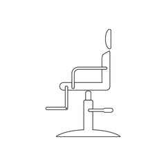 Barber chair icon. Element of Barber for mobile concept and web apps icon. Outline, thin line icon for website design and development, app development