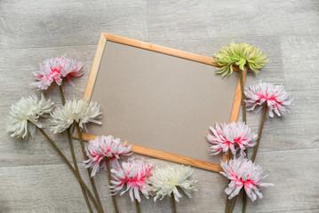 Flowers spring frame background