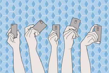 Hands on smart phones