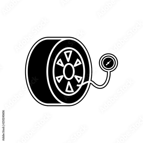 Tire Pressure Icon Element Of Cars Service And Repair Parts For