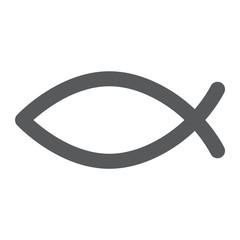 Christian fish glyph icon, religious and symbol, jesus fish sign, vector graphics, a solid pattern on a white background.