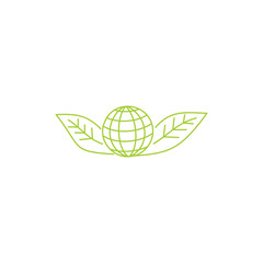 Leaf Logo Design Vector Template Isolated