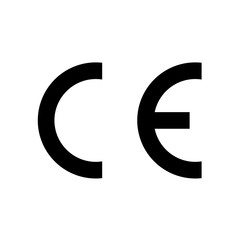 CE mark symbol. European Conformity certification. Clipart image isolated on white background