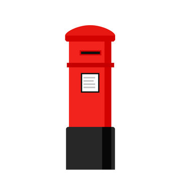 London letterbox icon. Clipart image isolated on white background