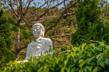 statue of buddha in the Vietnamese garden, Marble Mountains, Da Nang, Vietnam