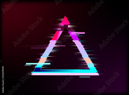 Triangle detail in Glitch effect  synthwave style