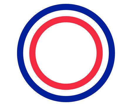 Französische Fahne mit Textfreiraum
