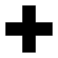 black cross sign on white background, icon or sign or symble, hospital concept, web icon ui, app or application icon ui