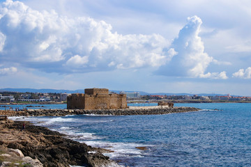 View to Paphos Castle, Cyprus