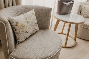 Beautifully Elegant Chair with Stylish Patterned Cushion