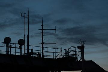 ビルの屋上の設備