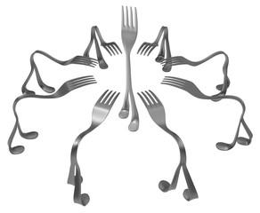 Forks Metal Legs Center