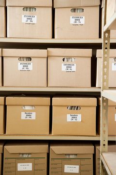 Boxes of Invoices