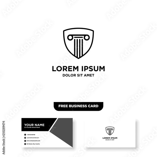 Law Firm Logo - Vector, Free Bussines Card Mockup