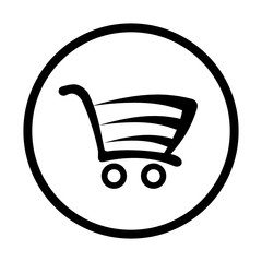 Fototapeta wózek na zakupy ikona obraz