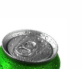 Fresh Can of Soda with Condensation