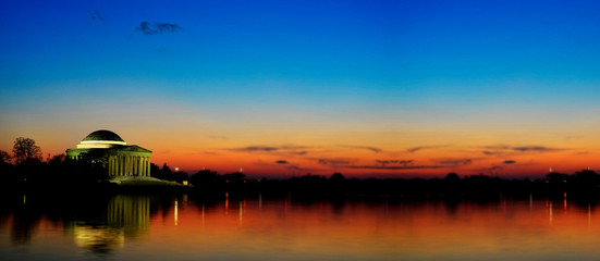 Jefferson Memorial Building Sunset with Spot Focus