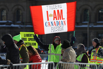 Members of the United We Roll protest convoy take part in a two-day demonstration in Ottawa