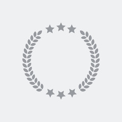 Award laurel icon and star