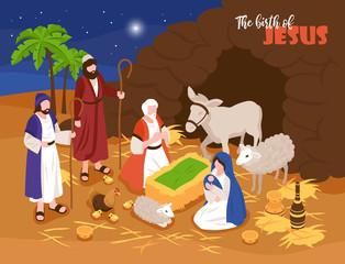 Jesus Birth Banner Background