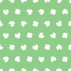 Seamless Shamrock pattern in green spring colors