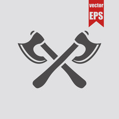 Two axes icon.Vector illustration.