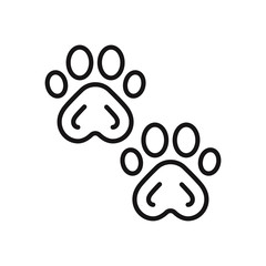 Paw prints vector icon