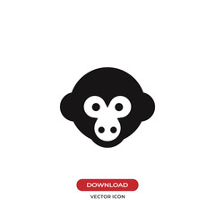 Monkey head vector icon