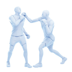 3d rendered medically accurate illustration of two boxing men