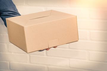 hand-shipped package and courier transport