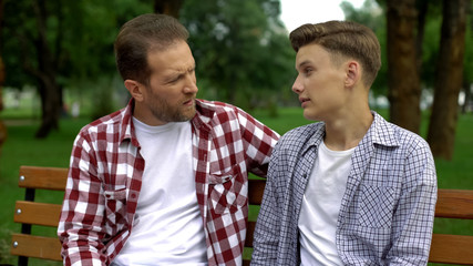 Son shares secret with father, trust-based warm relations, teen bringing up