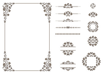 Vector set of graphic elements for design.
