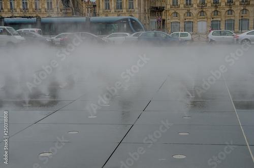 Water Mirror Of The Place De La Bourse De Bordeaux Stock Photo And