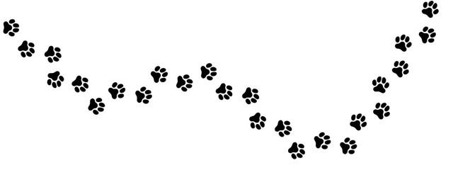 犬の足跡 (Paw Prints of Dog. Vector Illustration)