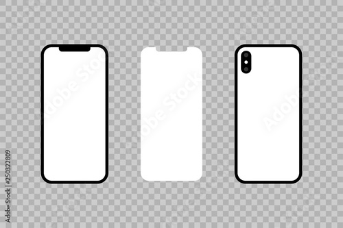 Front and back of the phone and screen  Smartphone icon in