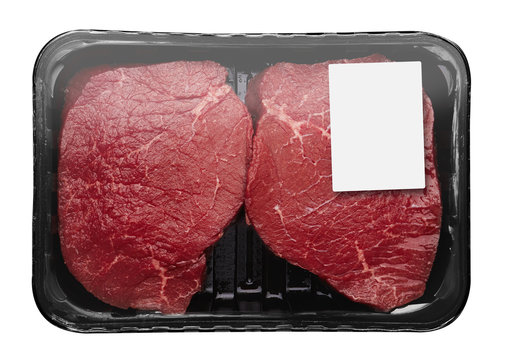 Fresh Raw Meat in package