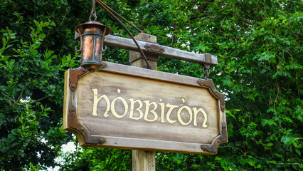Hobbiton near Matamata in New-Zealand