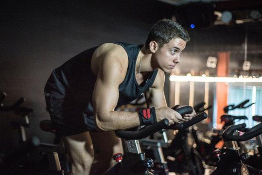 man workout gym exercises