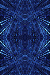 Artistic abstract computer generated smooth modern futuristic fractals artwork