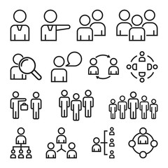 Simple Set of Business People Related Vector Line Icons.