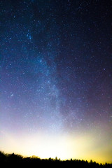 stars frozen lake
