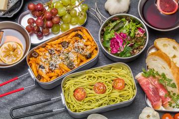 パスタ料理 Pasta cooking outdoors